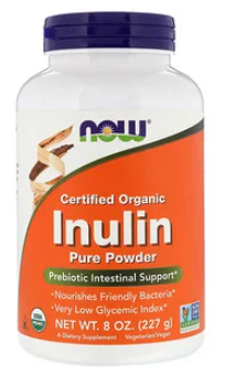 Certified Organic Inulin 227g - Now