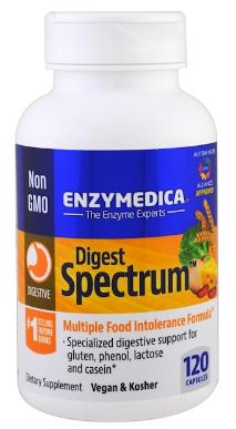 דייג'סט ספקטרום - פורמולת אנזימי עיכול מקיפה לשיפור עיכול במצבים קשים (120 כמוסות) | Digest Spectrum 120c - Enzymedica