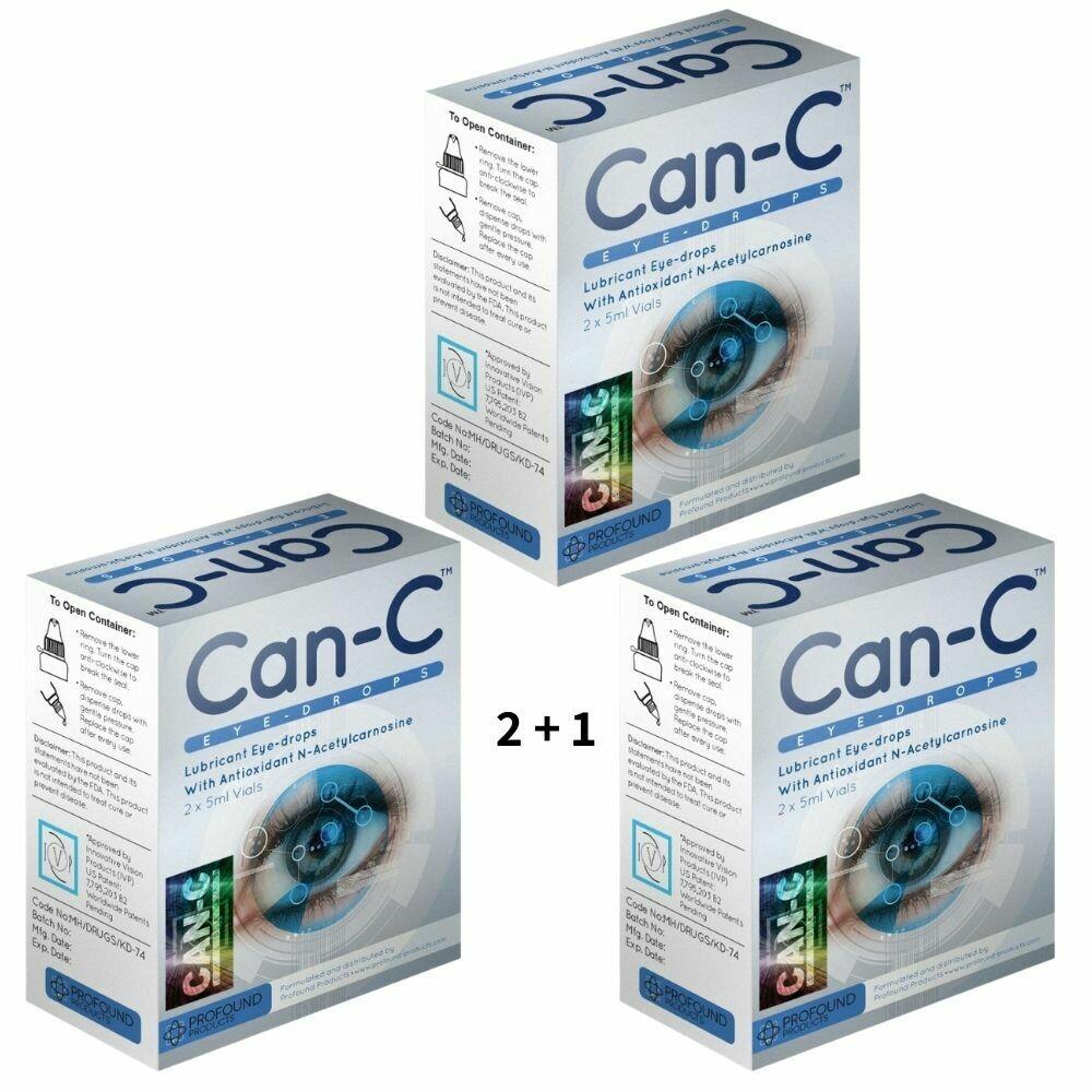 שלישיית טיפות  עיניים - מבצע 2+1 | Can-C Eye Drops 3 Boxes