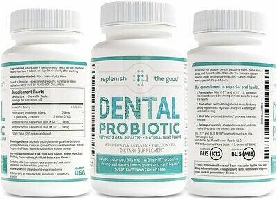 פרוביוטיקה דנטלית - 60 טבליות למציצה | Dental Probiotic 60t Non-GMO Blis K2 + Blis M18 - Fountain of Youth