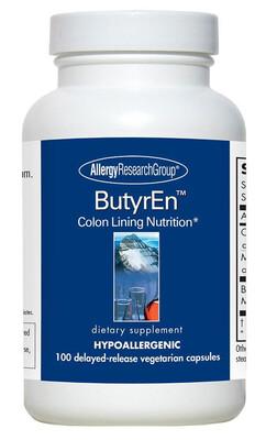בוטירן - 100 כמוסות בשחרור מושהה | ButyrEn™ 100 Delayed-Release Vegetarian Capsules - Allergy Research Group