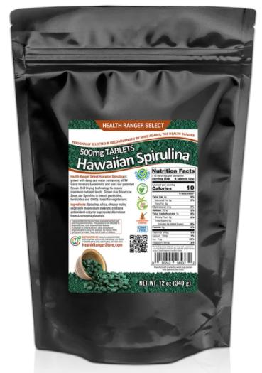 SpIrulina tablets 500 mg 340g