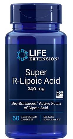 חומצה אלפא ליפואית אקטיבית – לשיפור הרגישות לאינסולין ולמצבי נוירופתיה סכרתית | R-Lipoic Acid, 240 mg, 60vc - Life Extension