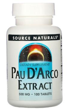 "Pau D'Arco Extract 500 mg 100t | תמצית פאו דה ארקו 500 מ""ג 100 טבליות"