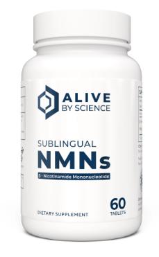 60 טבליות NMNs תת לשוניות נמסות בפה בטעם לימון טבעי | NMNs, 60 ct Sublingual Tablets - AliveByNature