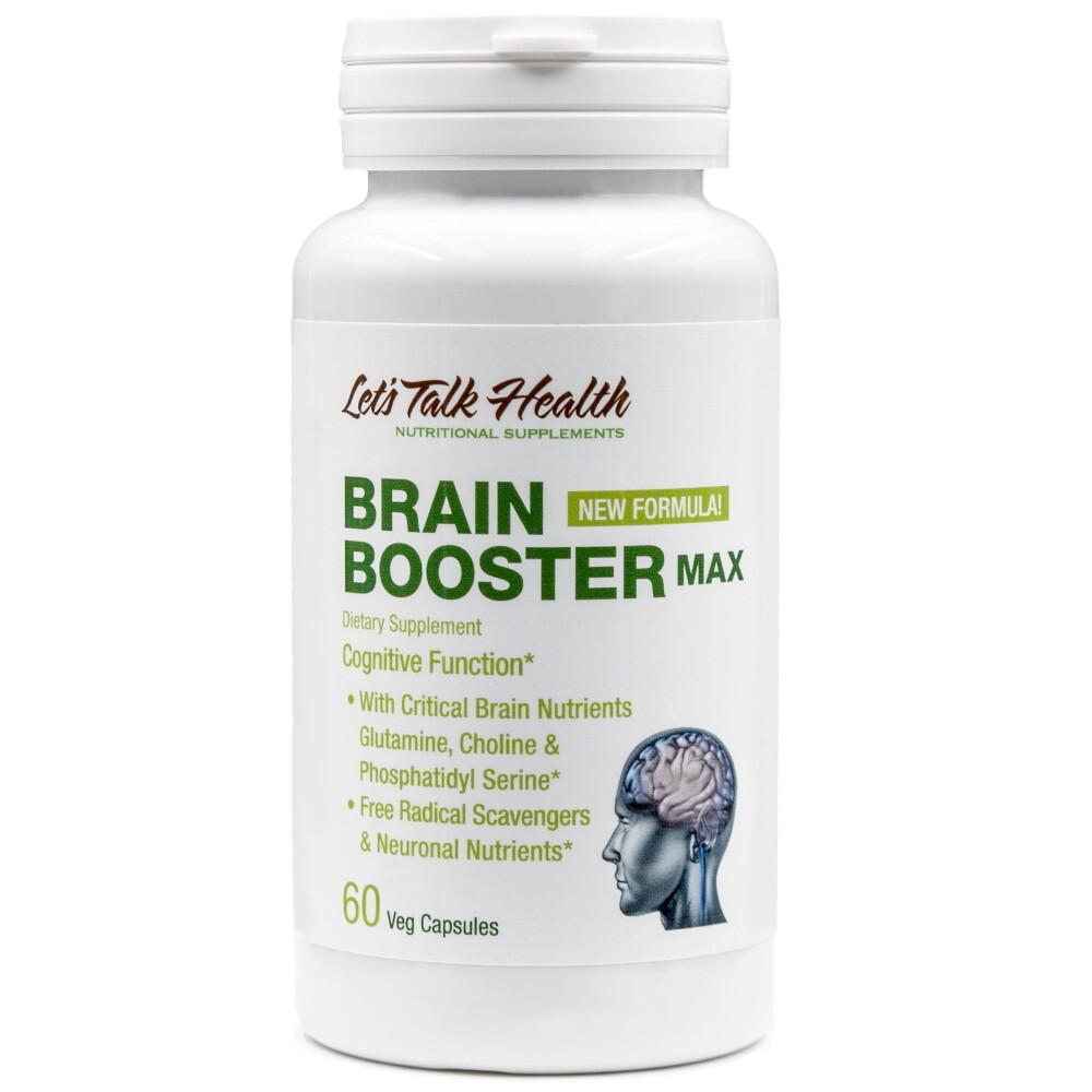חדש - בריין בוסטר מקס - נוסחה ייחודית ומקיפה לשיפור תפקוד המוח והזיכרון, 60 כמוסות | Brain Boster Max , 60 vc -  Let'sTalkHealth