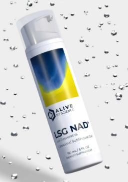 LSG NAD+, with Resveratrol – Liposomal Sublingual Gel – 150 mL - AliveByScience