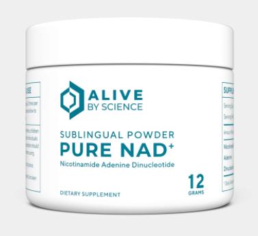 PURE NAD+ Powder – 12 Grams 48srv (2 srv/day, 250mg/srv) - Alive By Nature
