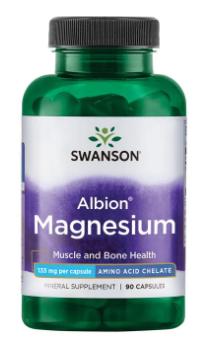 Magnesium Glycinate 133mg 90c - Swanson   מגנזיום גליצינאט 90 קפסולות