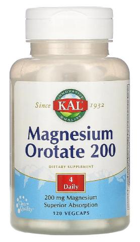 מגנזיום אורוטאט 120 טבליות | Magnesium Orotate 200 mg 120t - KAL
