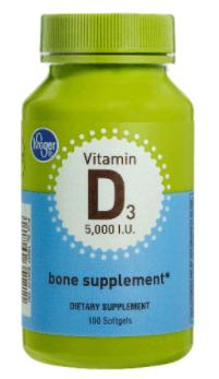 """ויטמין D3 5,000 יחב""""ל 100 כמוסות   D3 5,000IU 100sg - Kroger"""