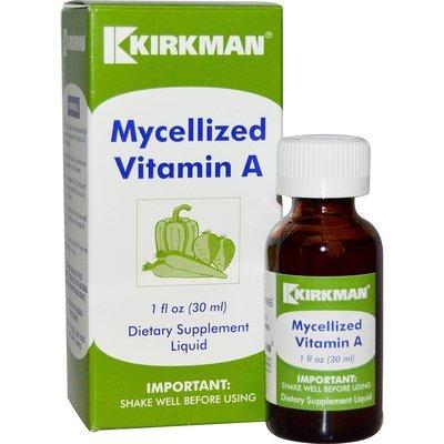 ויטמין A בטיפות | Mycellized Vitamin A Liquid, 1 fl oz (30 ml) - Kirkman Labs