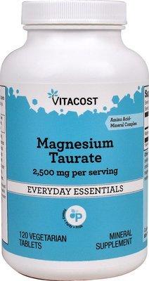 מגנזיום טאורט: טבליות ללב ולעיכול - 120 טבליות | Magnesium Taurate 120vt - Vitacost