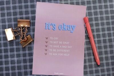 It's Okay - Print