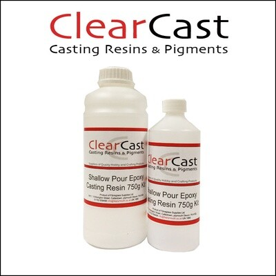 750g Epoxy Water Clear Casting Resin - Thin Pour 2-5mm