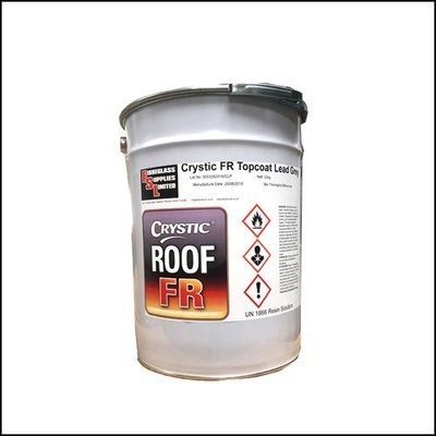CrysticROOF Fire Rated Topcoat Dark Grey 10Kg