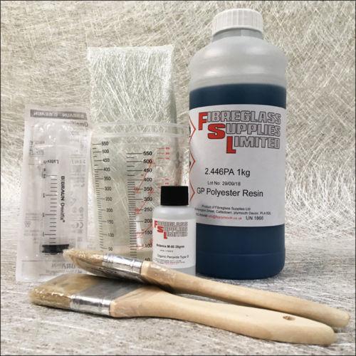Fibreglass Repair Kit for Boats, Caravans and Cars 1kg
