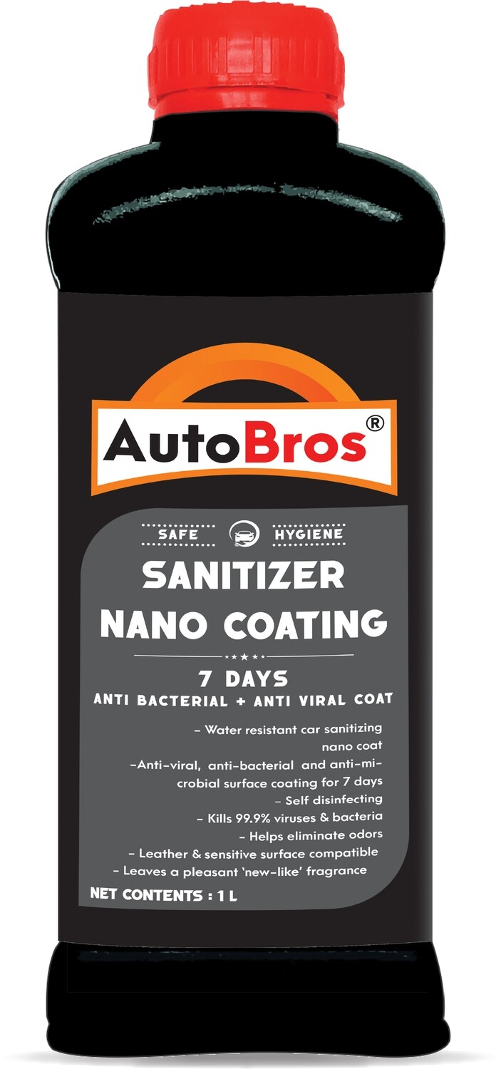 Auto Bros Sanitizer Coating | Anti-Viral, Anti-Bacterial & Anti-Microbial | Lasts for 7 Days | Pleasant Fragrance | 1 L |