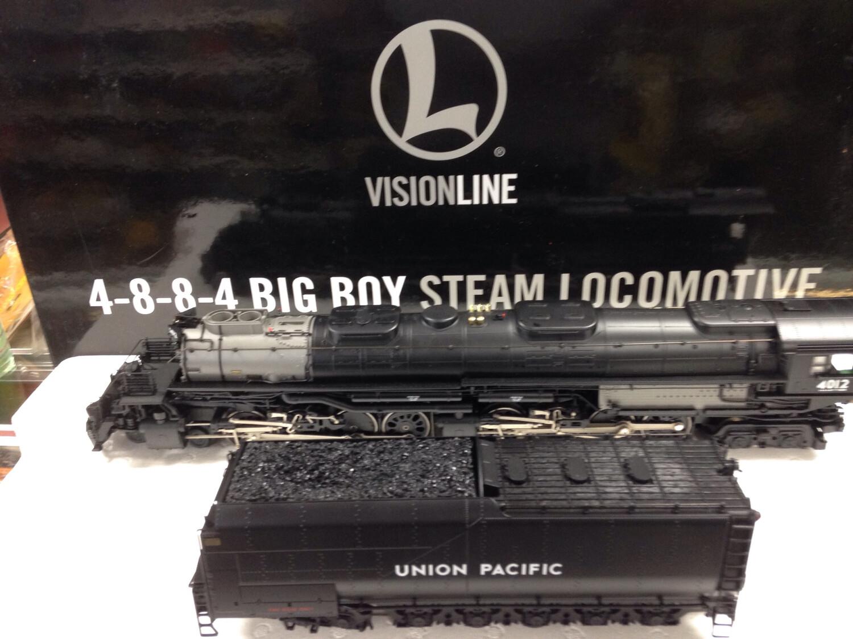 Lionel Visionline 4-8-8-4 Big Boy Steam Locomotive.   Included is Lionel UP Caboose with Big Boy DVD!