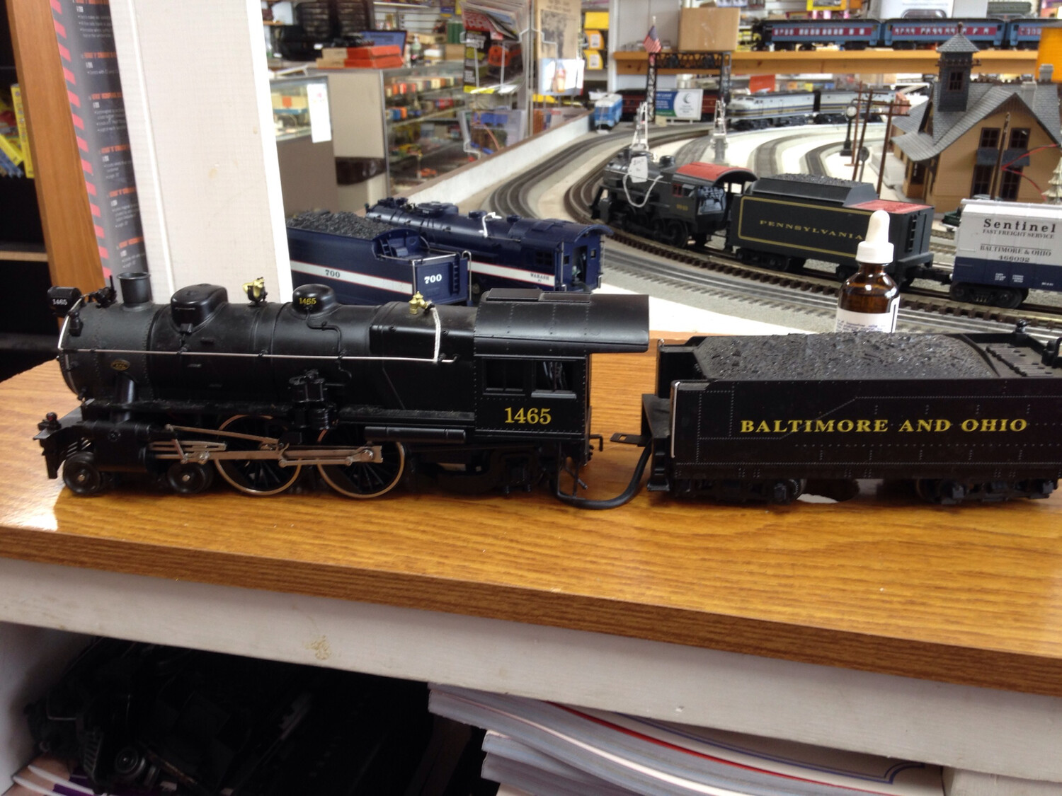 Lionel B&O  4-4-2 Atlantic Steam Locomotive & Tender  6-18094 TMCC & B&O Capital Limited 4 Car Madison Passenger Cars
