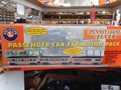 Lionel Pennsylvania Flyer Passenger 3 Car Expansion Pack  6-30004 has additional Vista Dome Car