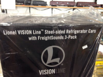 Lionel Visionline Refrigerator Cars with FreightSounds 3 Pack