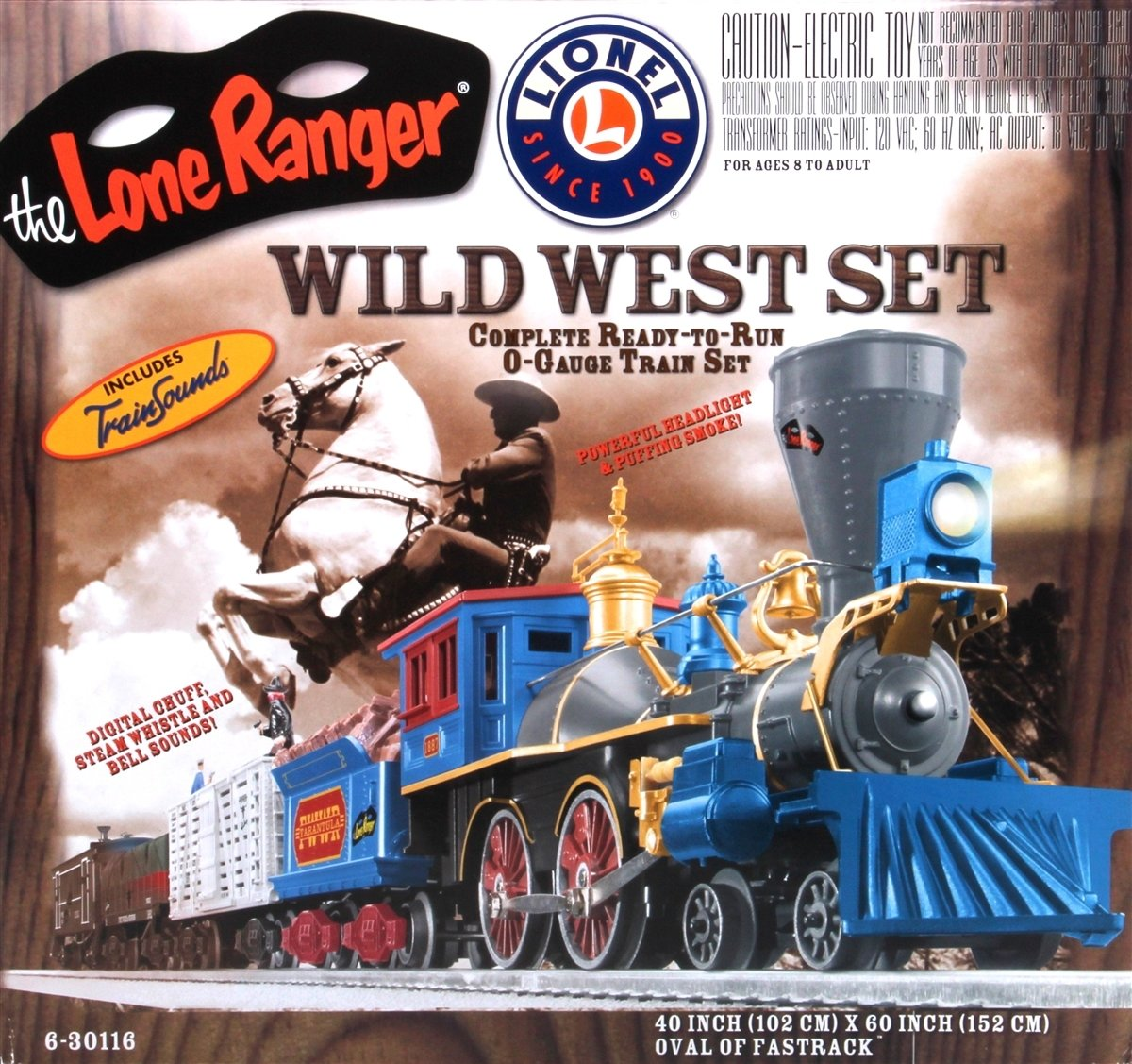 Lone RangerWild West Set (4-4-0 General #1887)