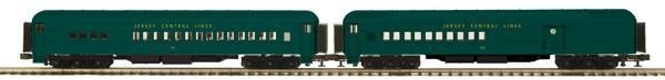 MTH O Scale Premier 20-4197 Jersey Central 2-Car 70' Madison Combine/Diner Passenger Set (NEW IN BOX)
