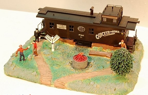 K-Line K-42401 New York Central Smoking Caboose Yard Office (NEW IN BOX)