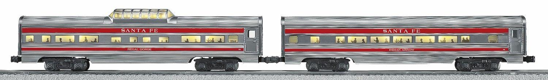 "Santa Fe ""Super Chief"" Aluminum Streamlined Passenger Car 2-Pack 6-25446 (NEW IN BOX)"