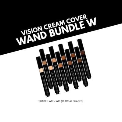 Danessa Myricks Vision Cream Cover Perfecting & Shaping Wand Bundle - W Series (10 Shades)