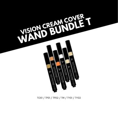 Danessa Myricks Vision Cream Cover Perfecting & Shaping Wand Bundle - T Series (6 Shades)