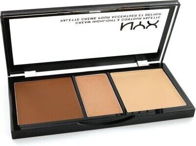 NYX cream Highlight & Contour palette Medium