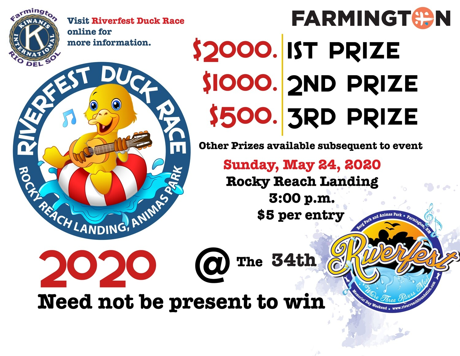 Duck Race Ticket