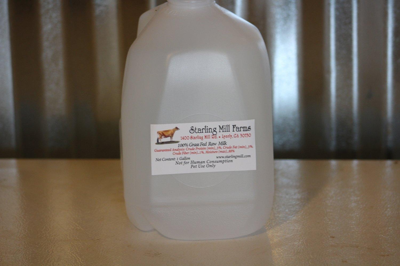 Grassfed Raw milk - 1 gallon