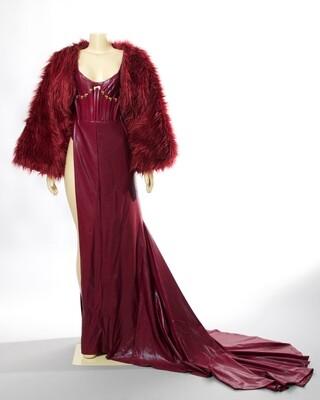 Wine Top Model Gown