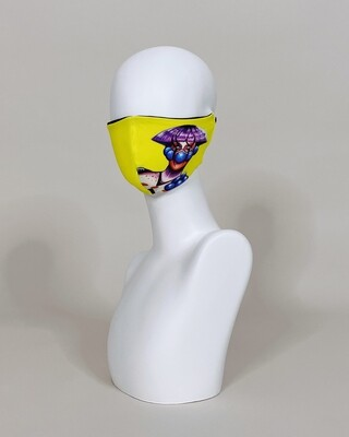 Deluxe Adjustable Reversible Club Kid Face Mask