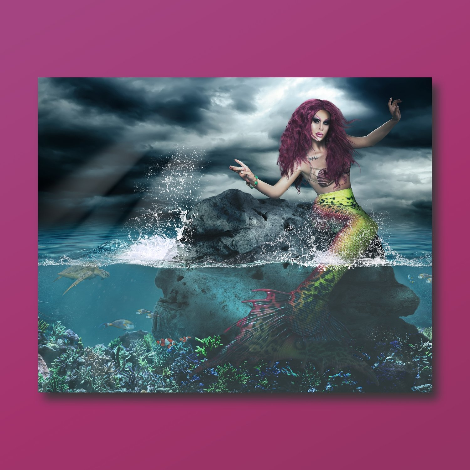 """Drag Photographer """"Mermaid"""" (8""""x10"""") SIGNED, Summer 2018 Collection"""