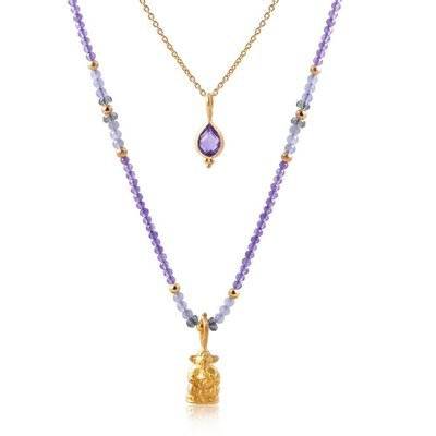 Ganesha Nadi Necklace • Amethyst