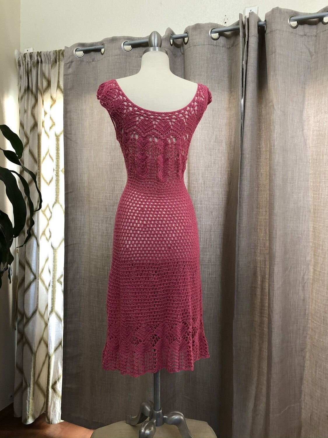 Crocheted Dress with Crystal Yarn Acrylic with Glitter