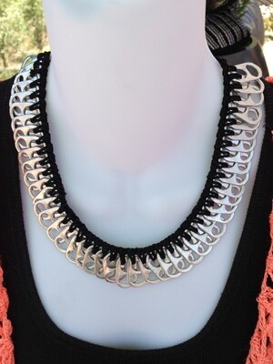 Soda Top Necklaces, choker crocheted with nylon thread