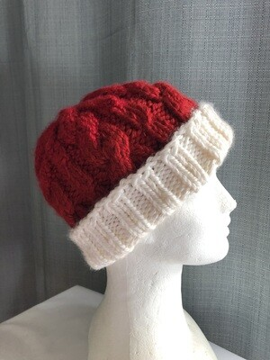 Santa Red-White Winter Unisex knitted Beanie hat