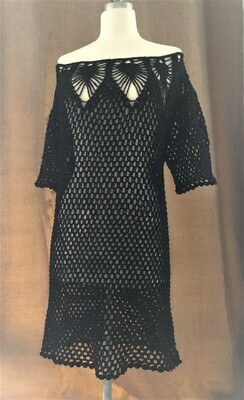 Black Dress with Red Glitter Size S-M