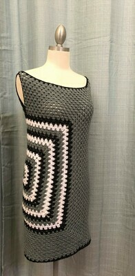 Gray Dress with Square on right side Size S-M