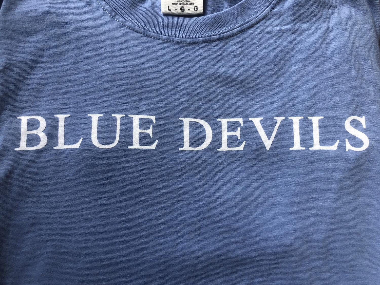 """Blue devils"" Blue Long Sleeve"