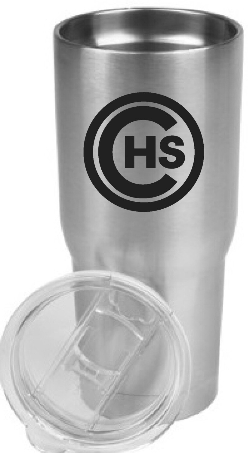 CHS 22 Oz. Stainless Steel Tumbler, Preorder only till Tuesday, November 24th. It will be delivered before Holiday Break.