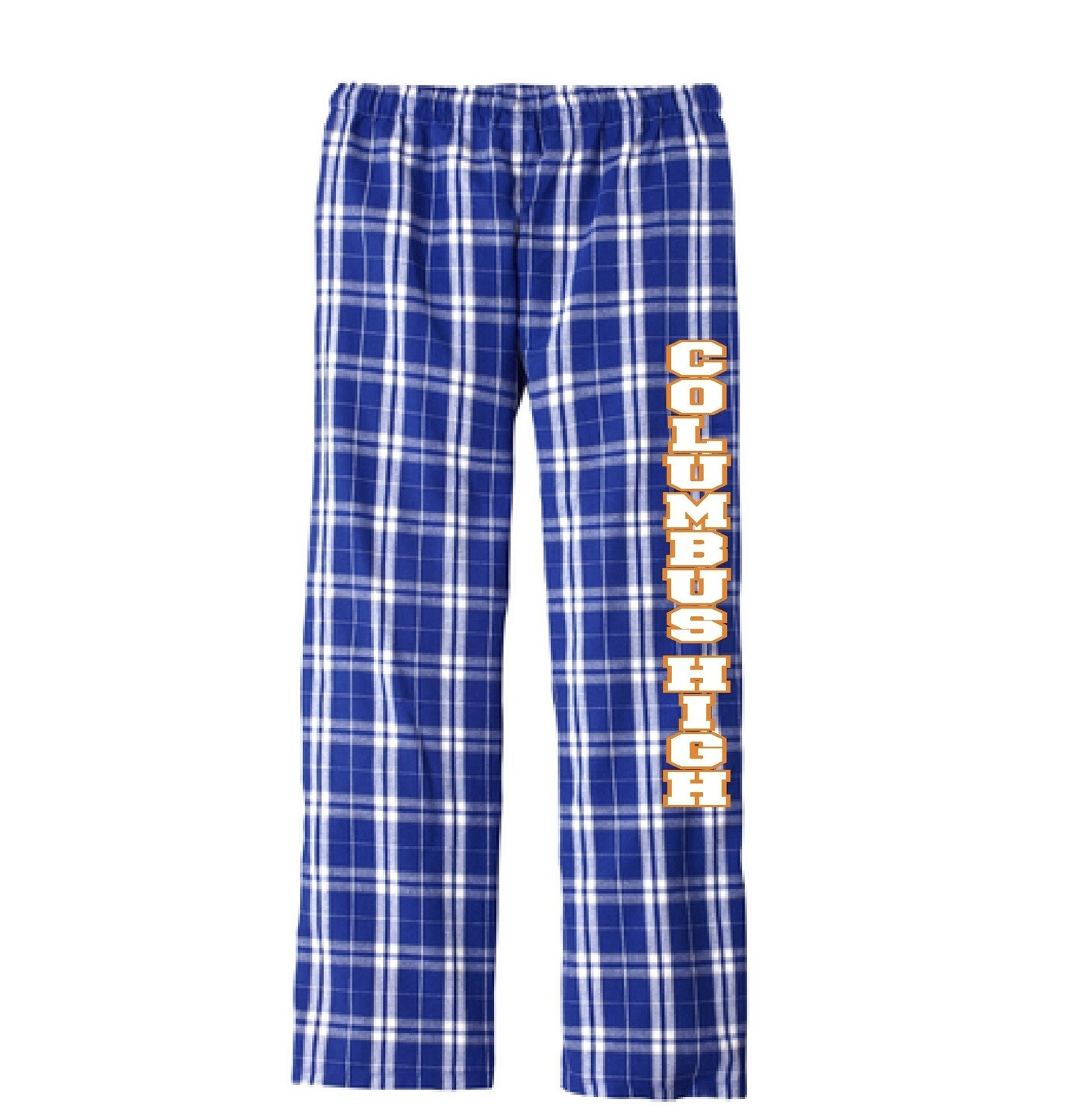 Columbus High Flannel Pajama Pants. Preorder Only by Sunday, December 6th.