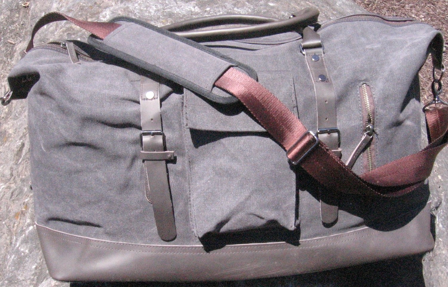 Ultimate Duffle Bag Heavyweight Vintage Canvas - Charcoal Grey