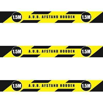 1,5 meter - Afstand sticker