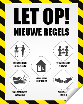 Posterprint met Covid19 Reglementen A3 formaat